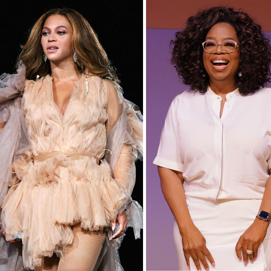 Beyoncé, Oprah Winfrey y Serena Williams