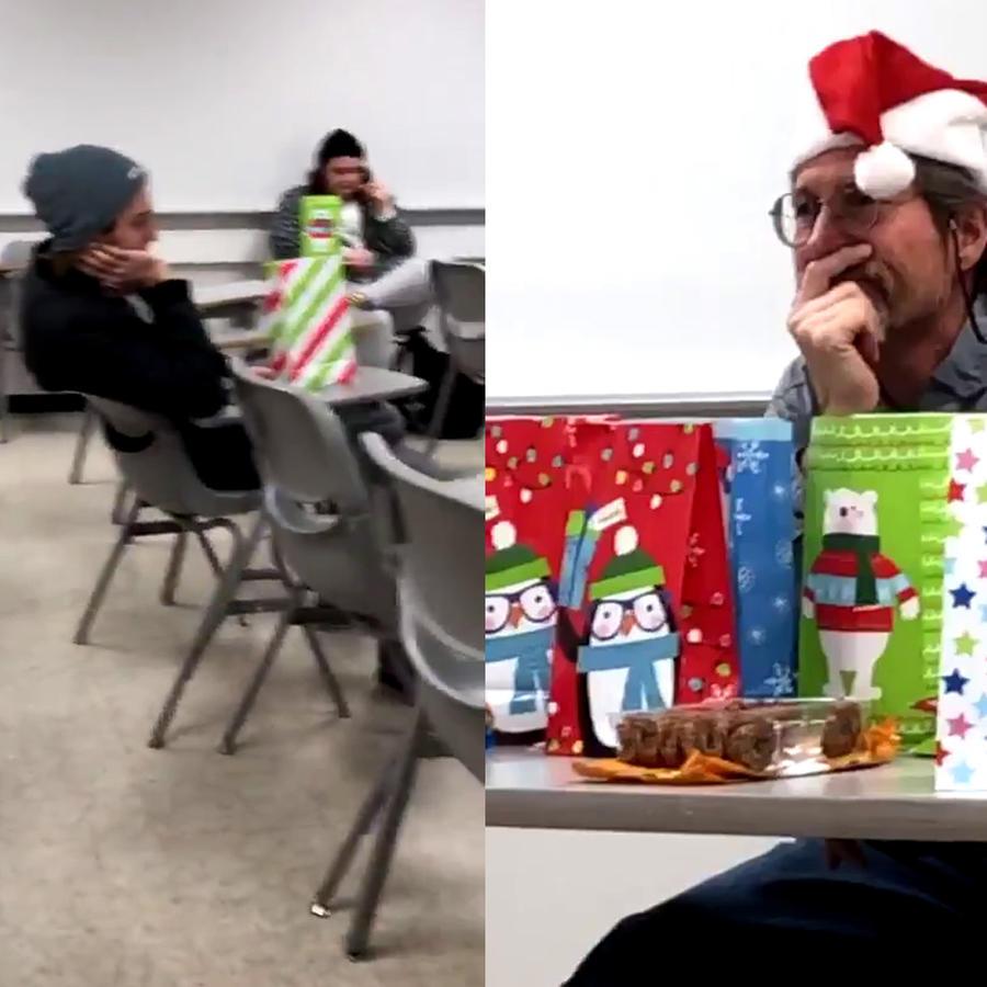 Video falso de fiesta navideña