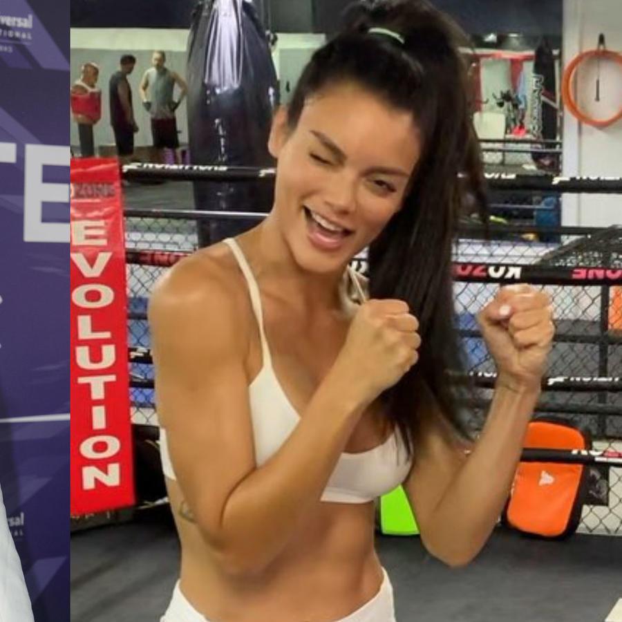 Zuleyka Rivera practica kick boxing