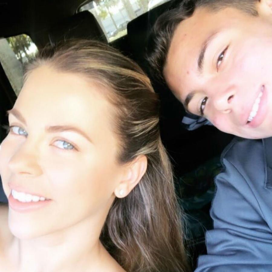 Ximena Duque y su hijo Cristian