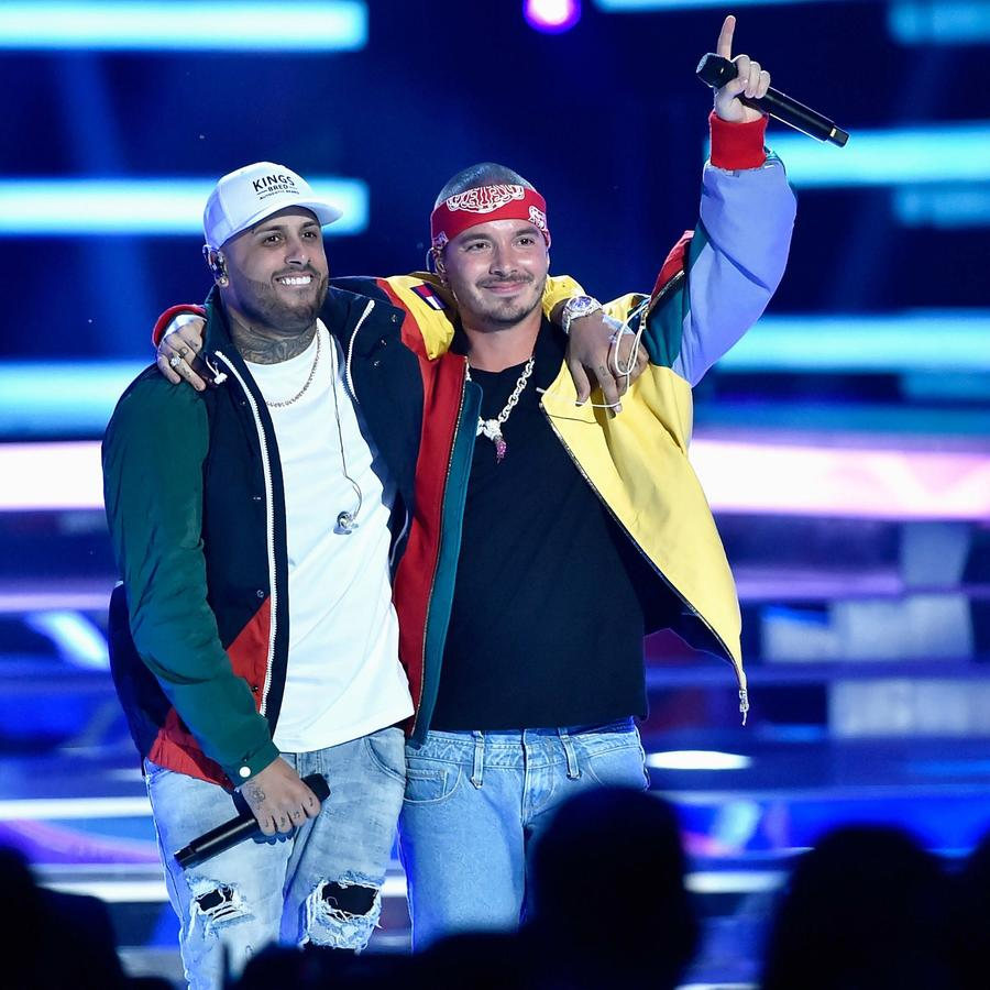 J Balvin y Nicky Jam en Premios Billboard