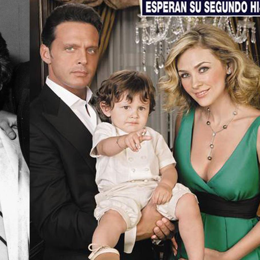 Luis Miguel y su papá Luisito Rey. Luis Miguel y Aracely Arámbula con su hijo
