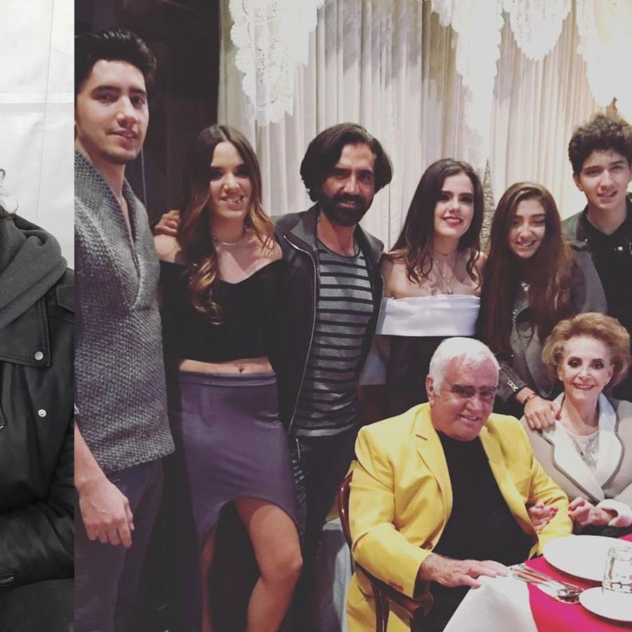 Alejandro Fernández y su familia