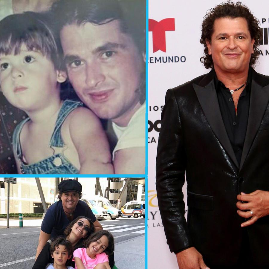 Carlos Vives y sus hijos