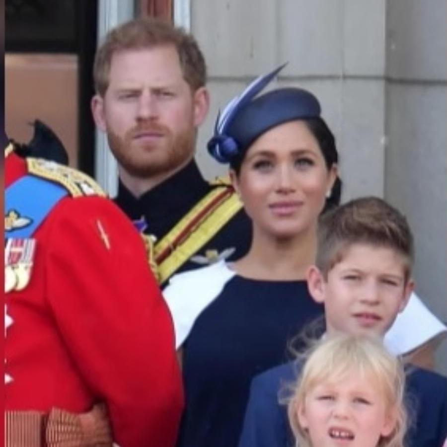 Príncipe Harry y Meghan Markle en el balcón real