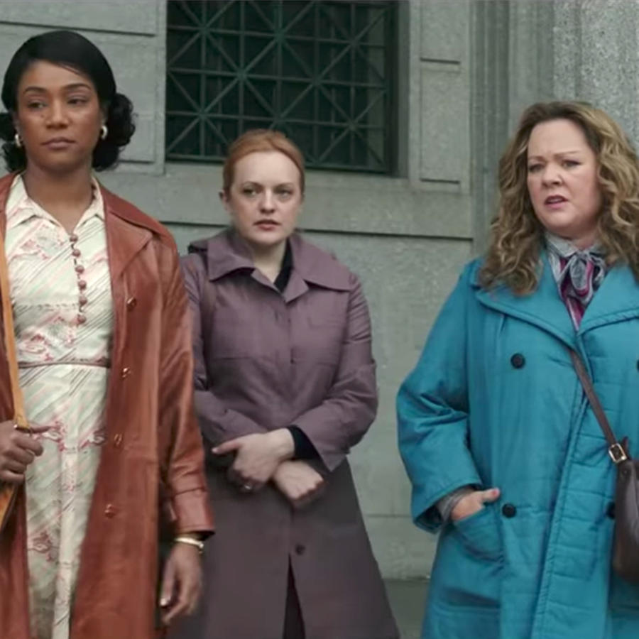 "Melissa McCarthy, Tiffany Haddish, and Elizabeth Moss in ""The Kitchen"""