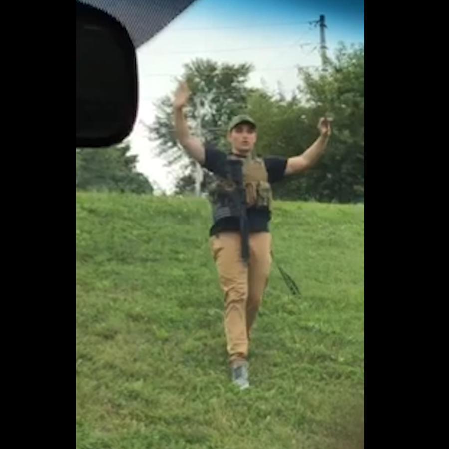 Dmitriy Andreychenko, de 20 años, fue arrestado a entrar fuertemente armado a un Walmart en Springfield, Missouri el 8 de agosto de 2019