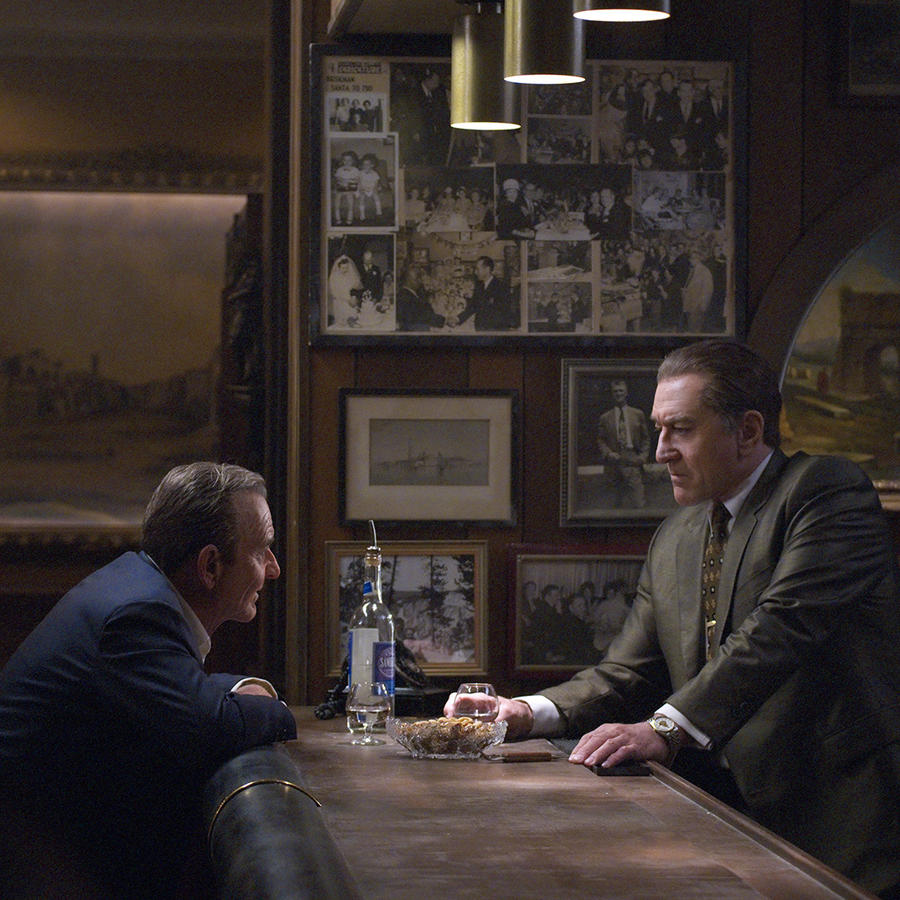 "Robert De Niro and Joe Pesci in ""The Irishman"""
