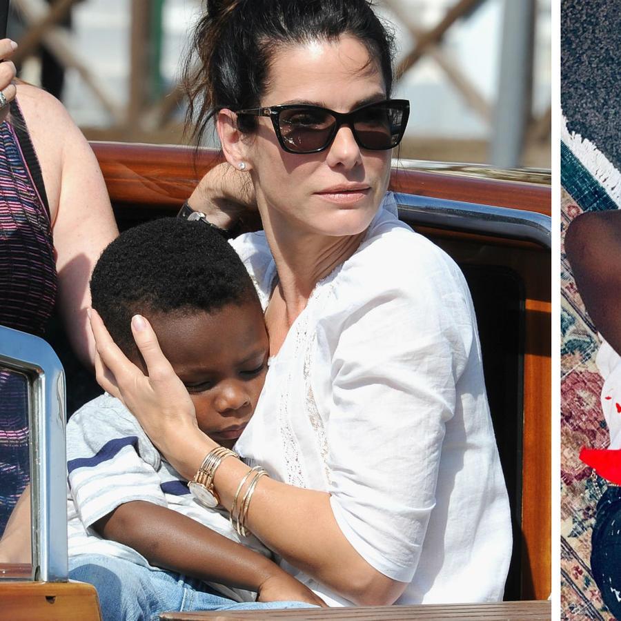 Sandra Bullock y Madonna con sus hijos