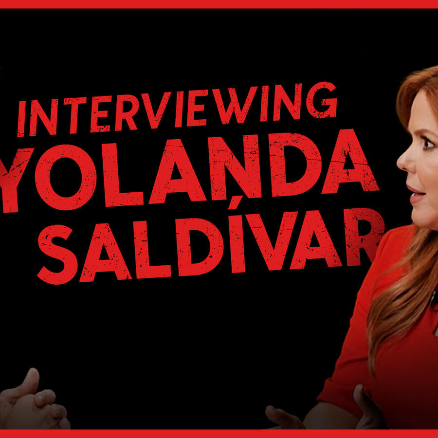 Christian Acosta and María Celeste Arrarás in Latinx Now!: The Files, the interview with Yolanda Saldívar