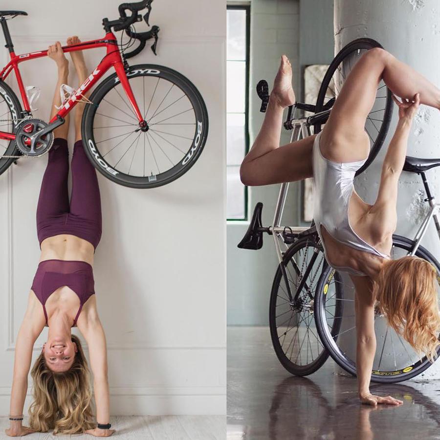 Yoga en bicicleta