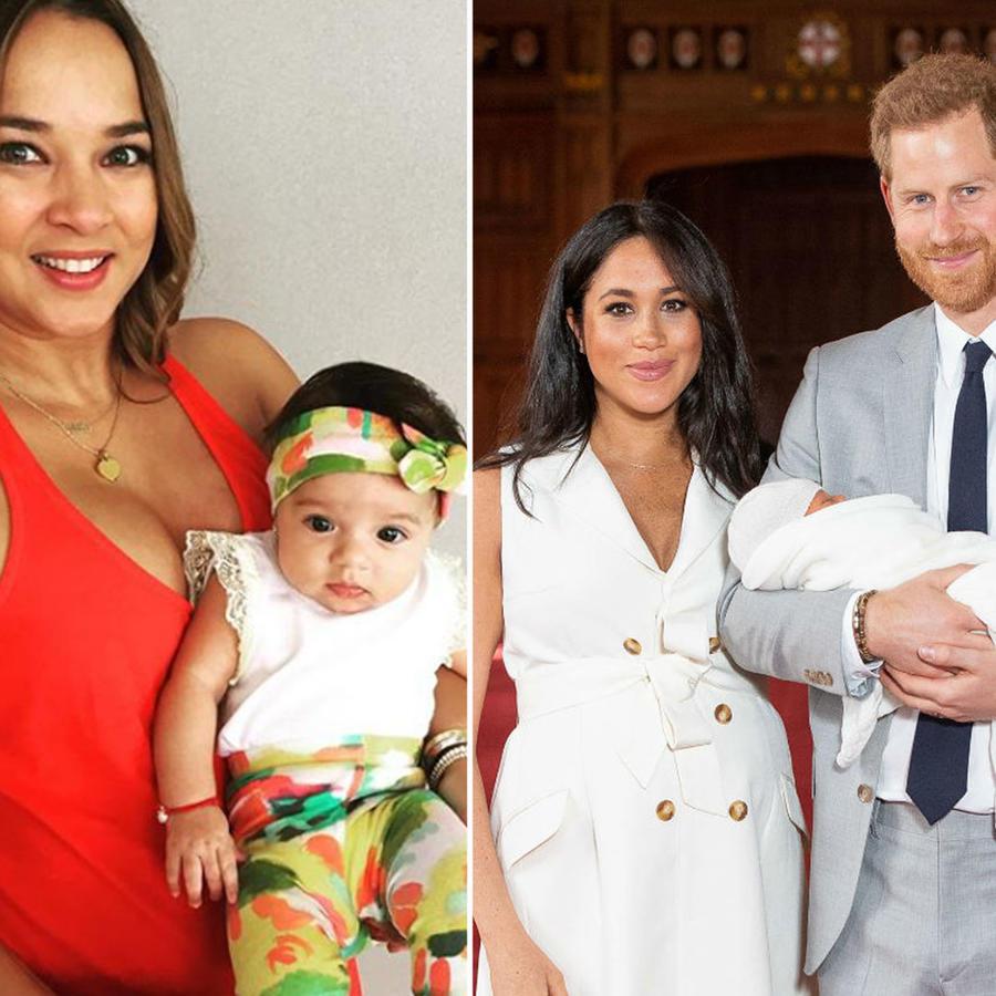 Collage bebés famosos de la década