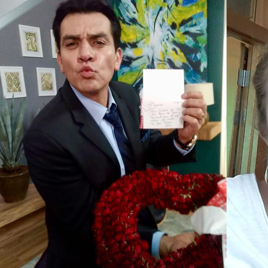 Jorge Salinas y su hija Valentina