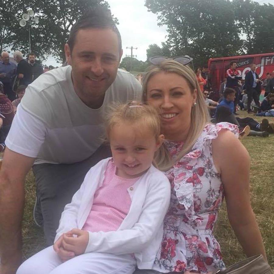 Damien Galvin y familia