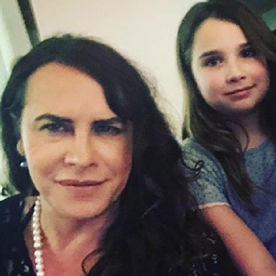 Karla Gascón y su familia