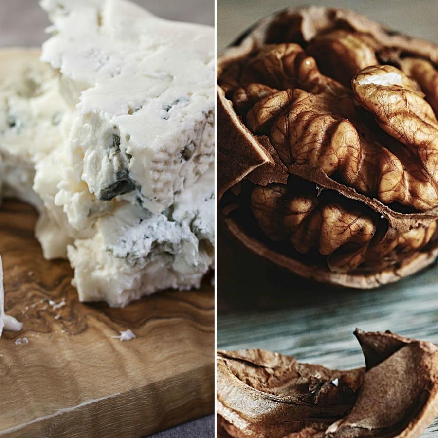Sal, queso y nueces