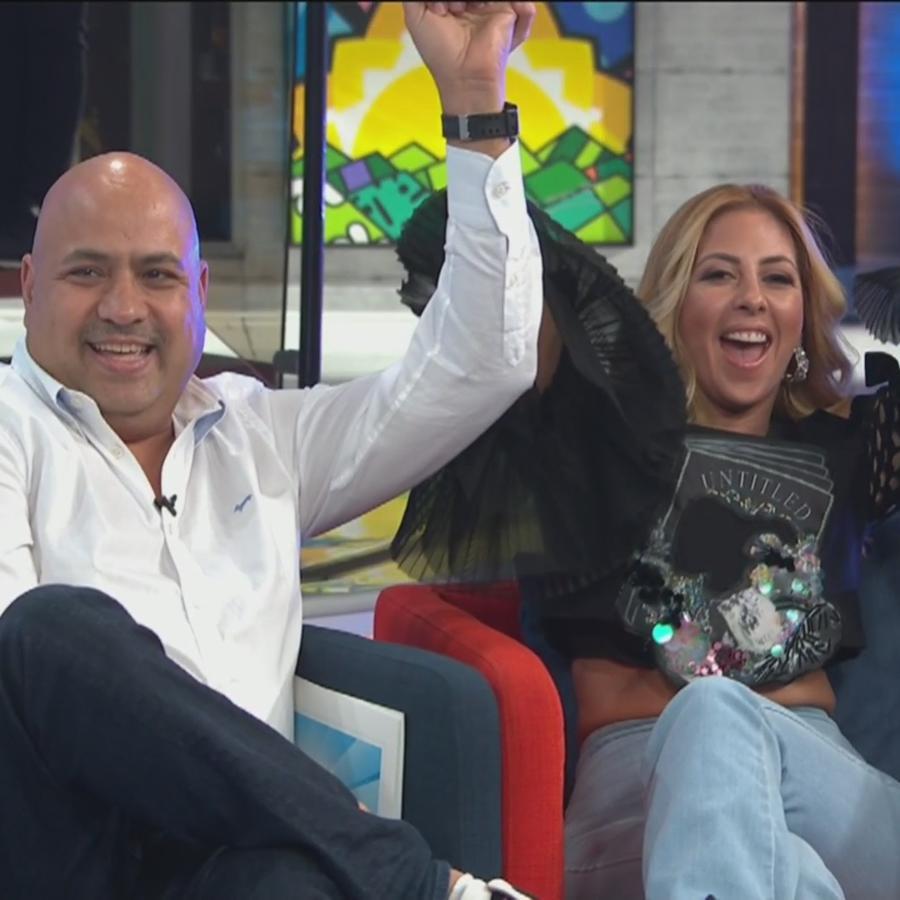 Chiquibaby y su esposo, Gerardo López
