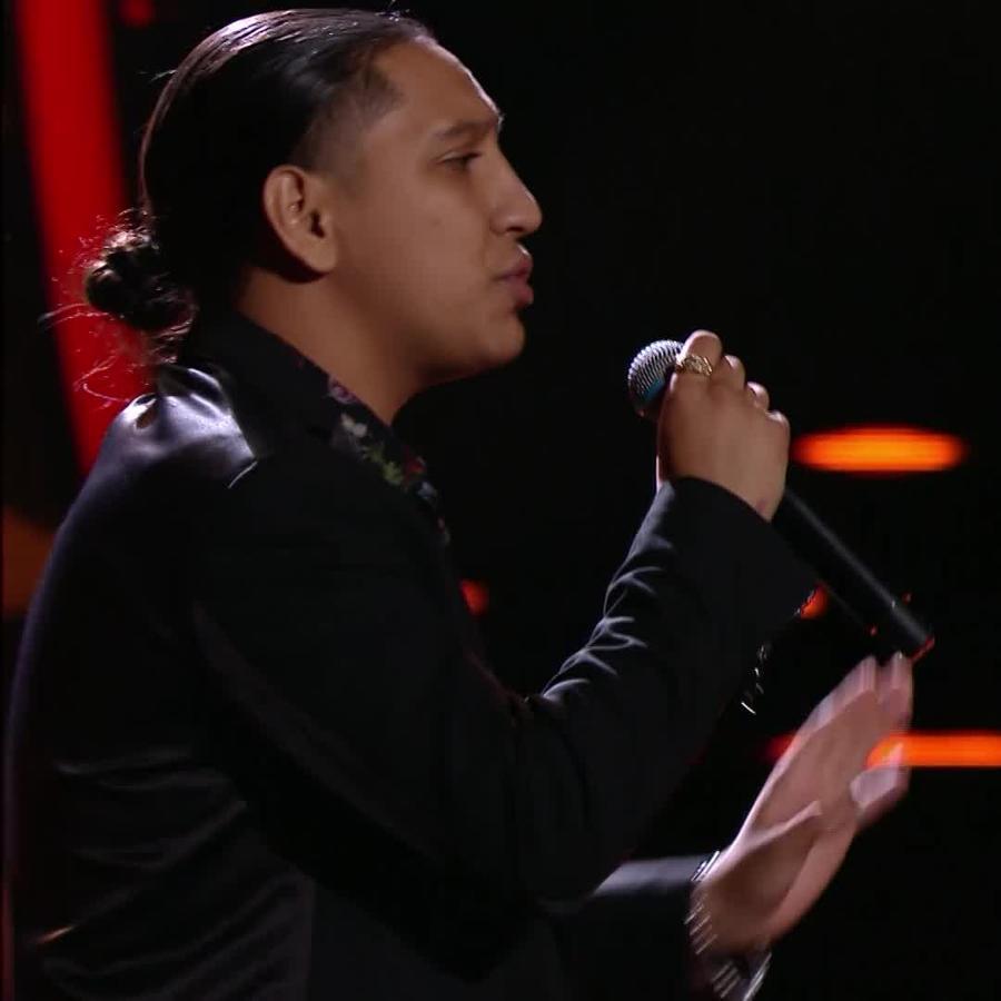 Adrián Torres en su audición a ciegas en La Voz 2