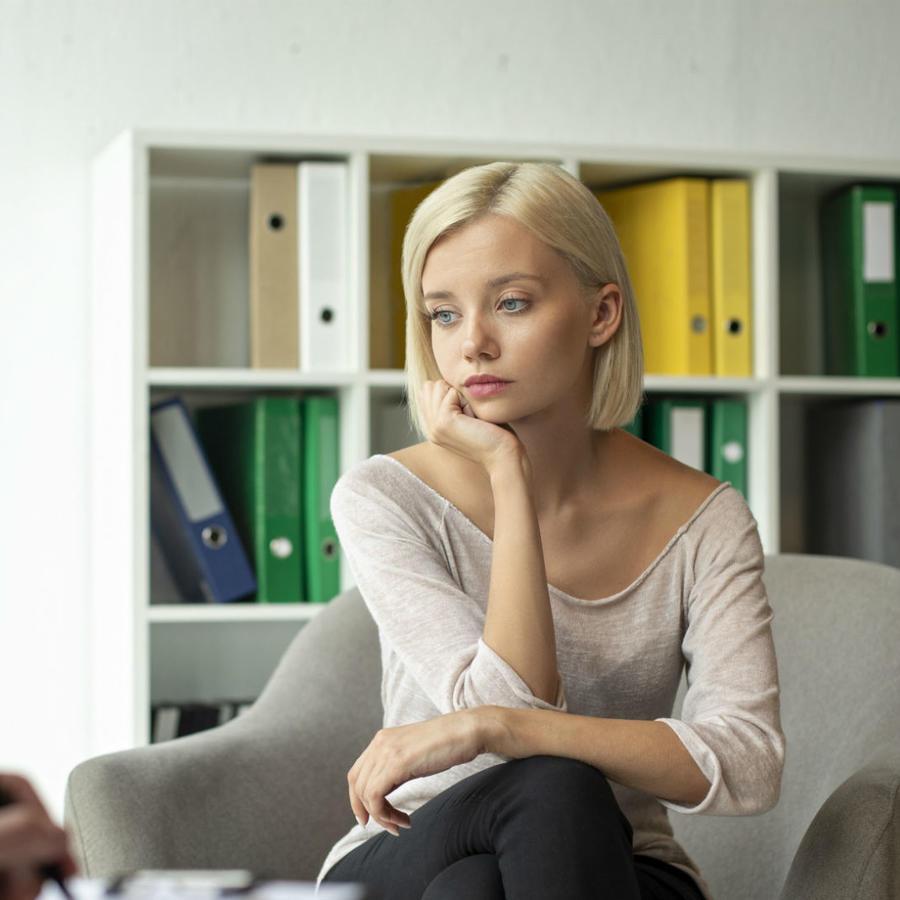 Mujer en terapia