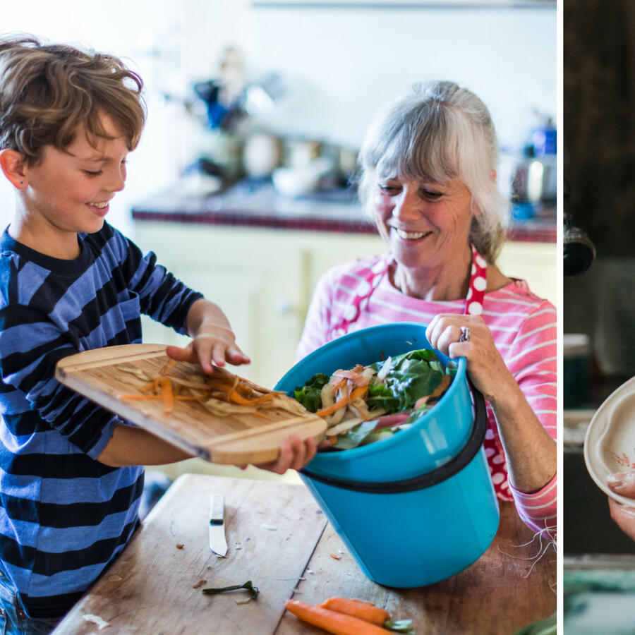 Niños ayudando a las tareas del hogar