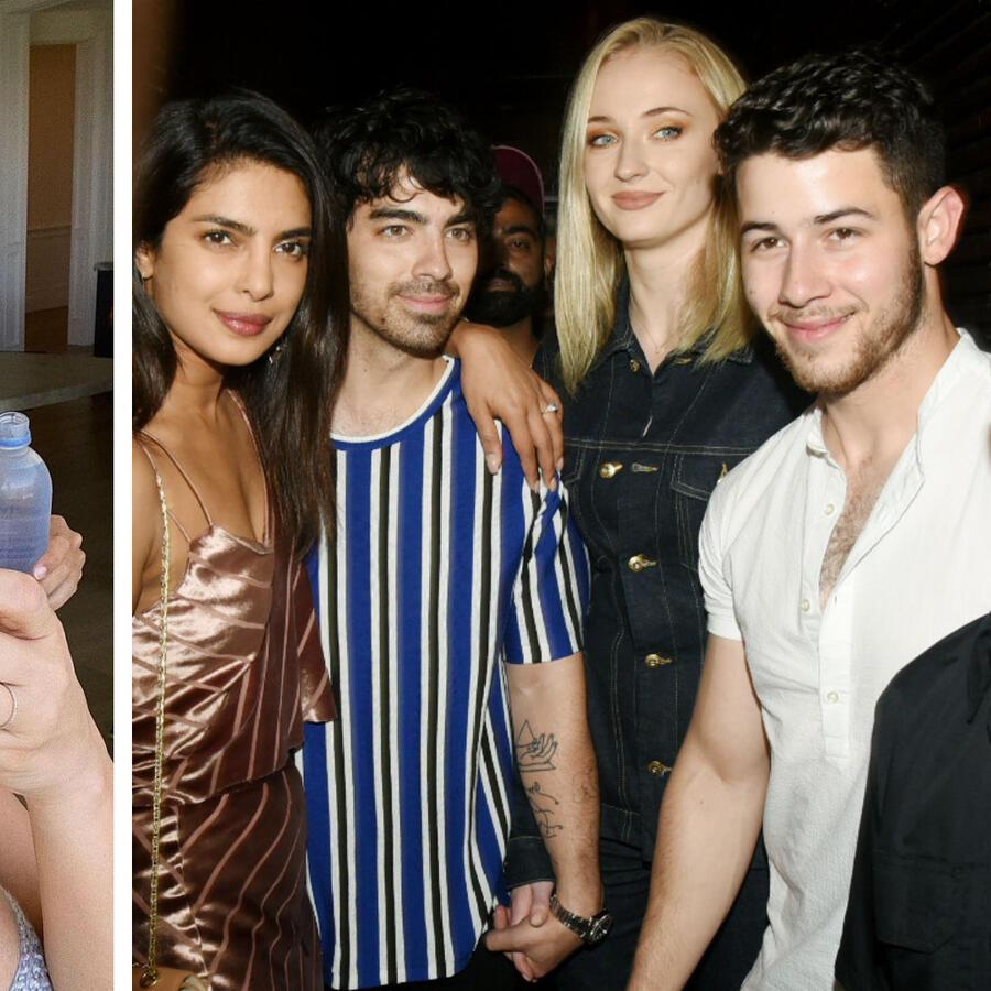 Kim Kardashian y Sophie Turner con sus cuñados