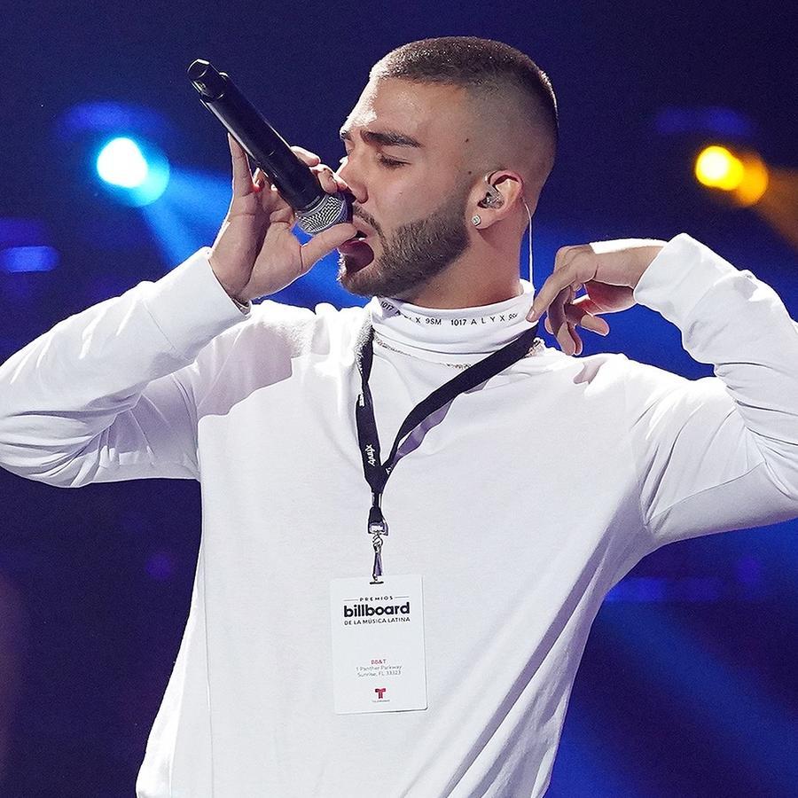 Manuel Turizo en el ensayo de los Premios Billboard 2020