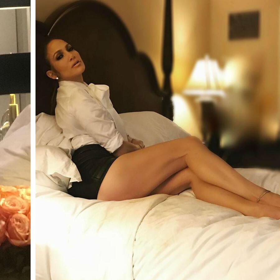 Jennifer Lopez en su recámara
