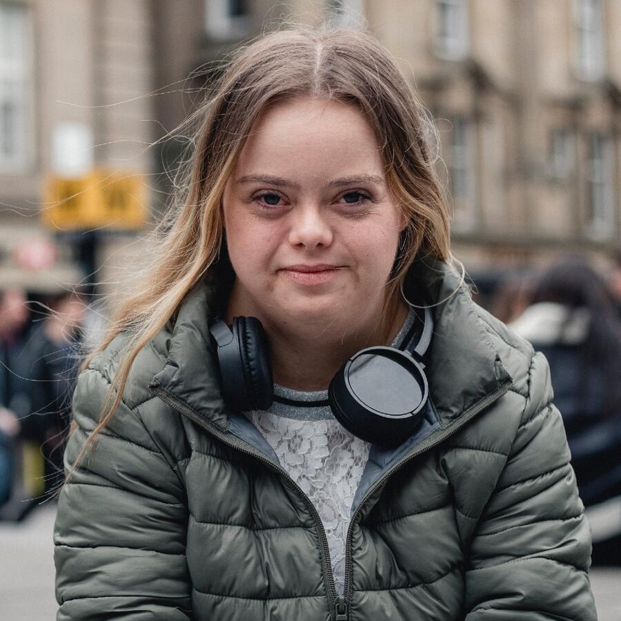 adolescente con sindrome de down