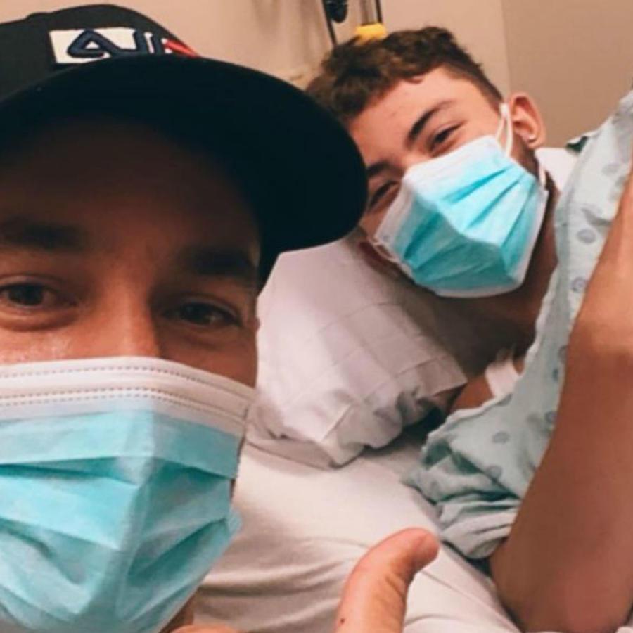 Cristan Carabias en el hospital