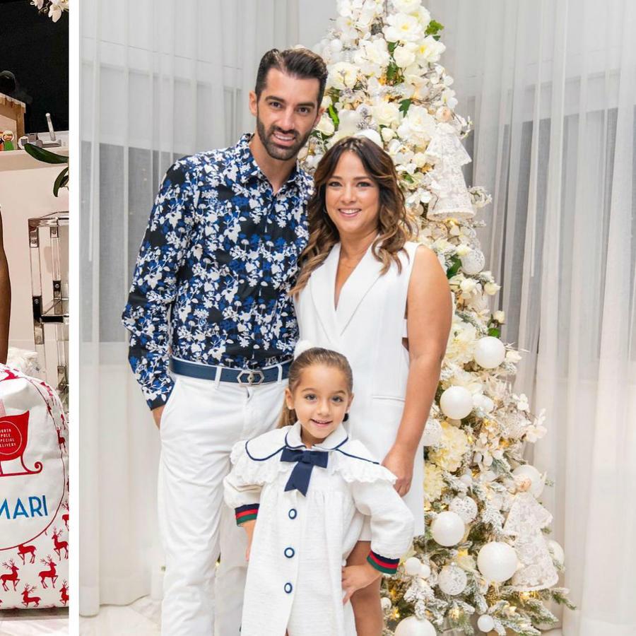 Adamari López mostrando sus árboles de Navidad