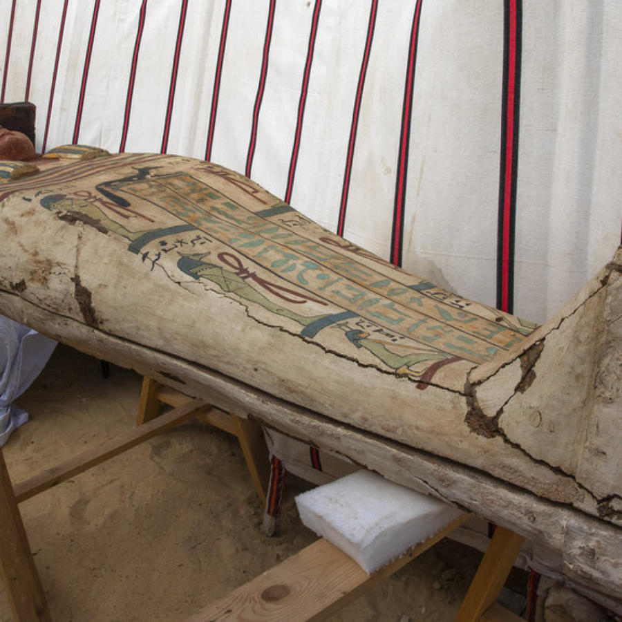 Ataúd encontrado en Egipto
