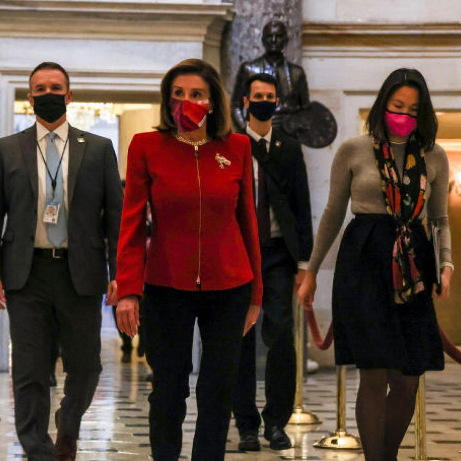 Nancy Pelosi y senadores acuden al Senado