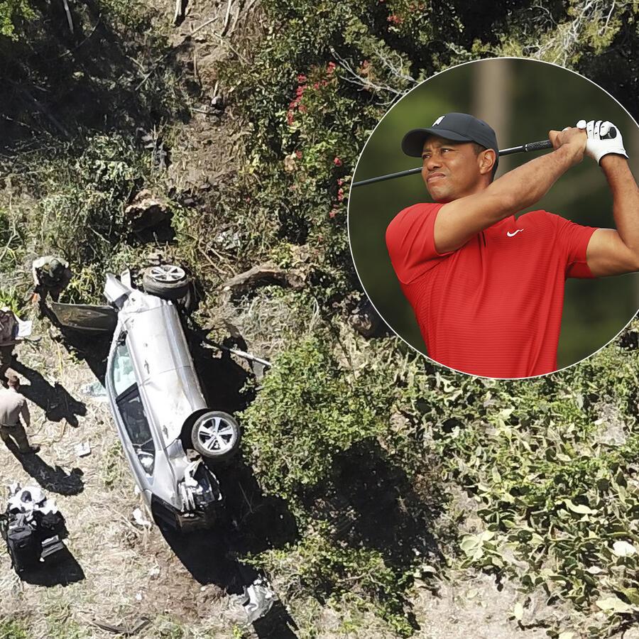 Celebridades que como Tiger Woods han sobrevivido a accidentes de autos.