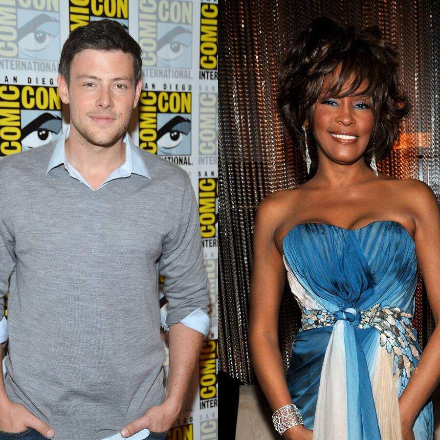 Cory Monteith y Whitney Houston