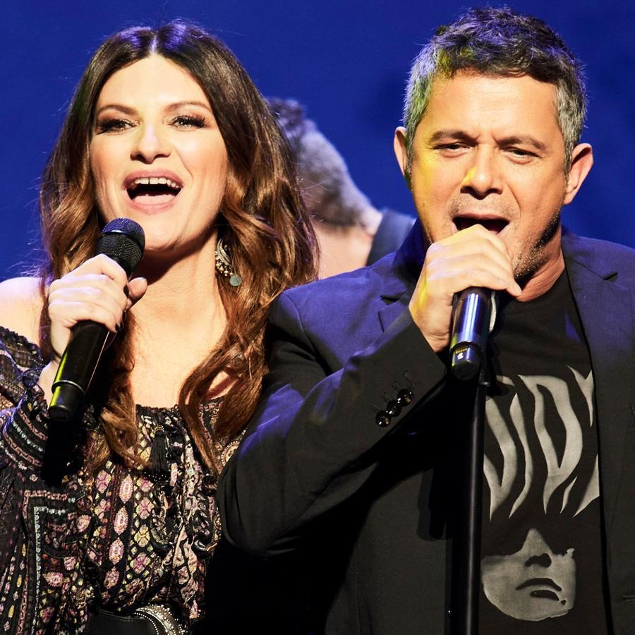Laura Pausini y Alejandro Sanz en los Premios Odeon 2020 en Madrid, España.