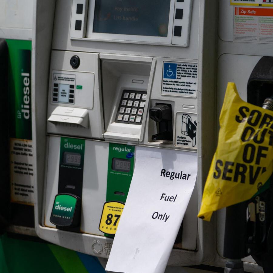 Gasolinera fuera de servicio en Georgia