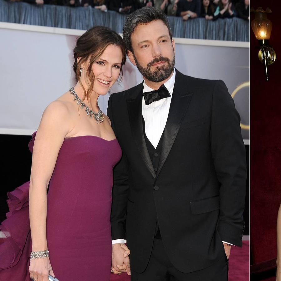 Jennifer Garner y Ben Affleck en 2013, Jennifer Lopez y Ben Affleck en 2002