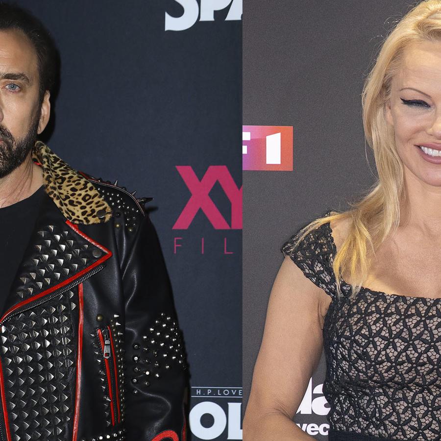 Nicholas Cage y Pamela Anderson.