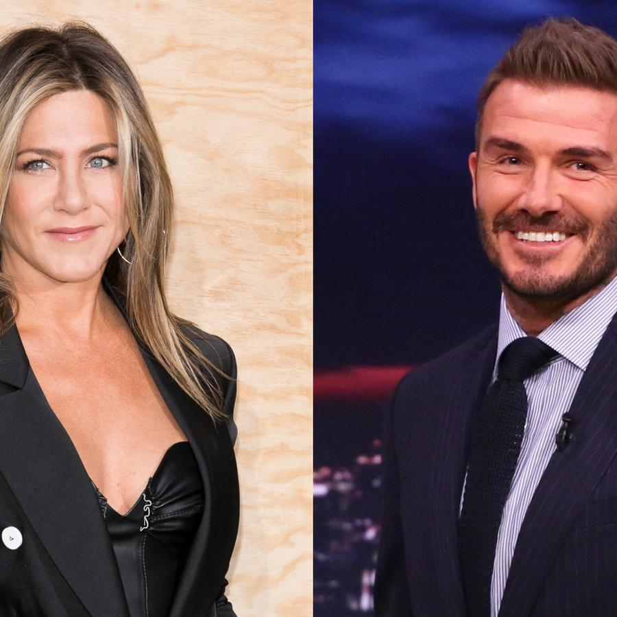 Jennifer Aniston y David Beckham