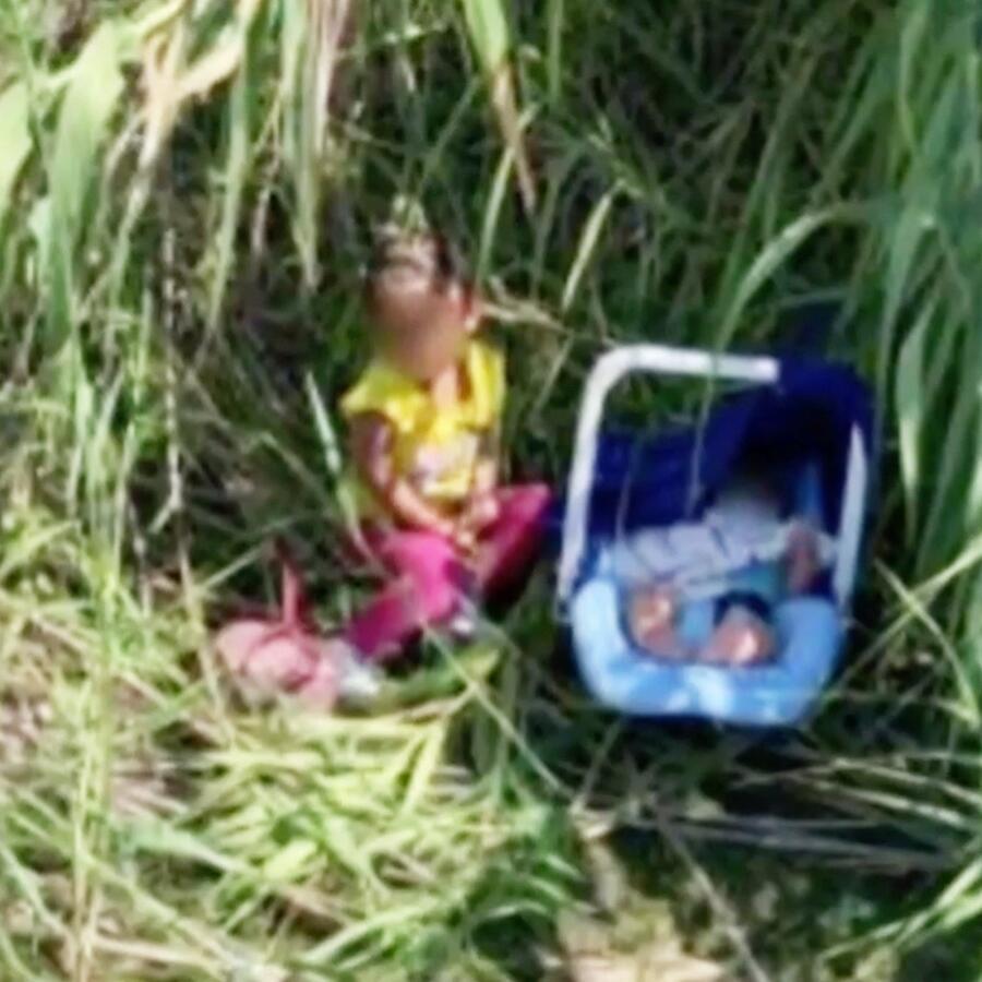 Encuentran a dos niños abandonados a orillas del Río Grande