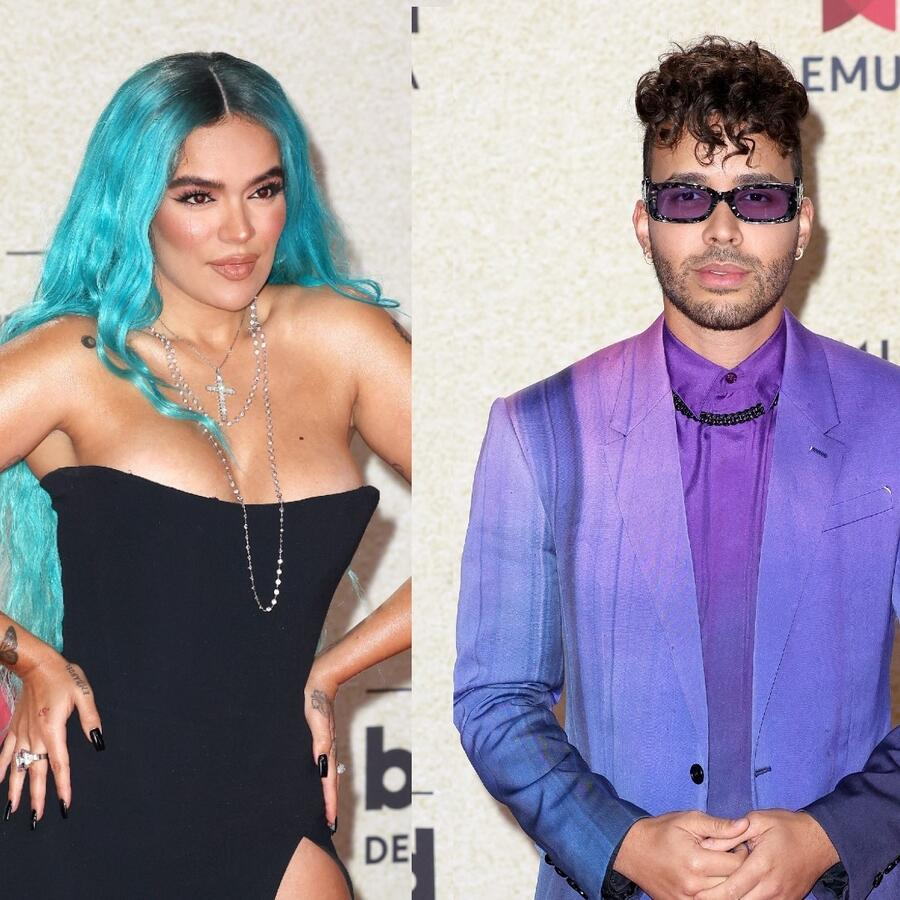 Karol G, Prince Joyce, Natti Natasha en la red carpet de los Premios Billboard 2021