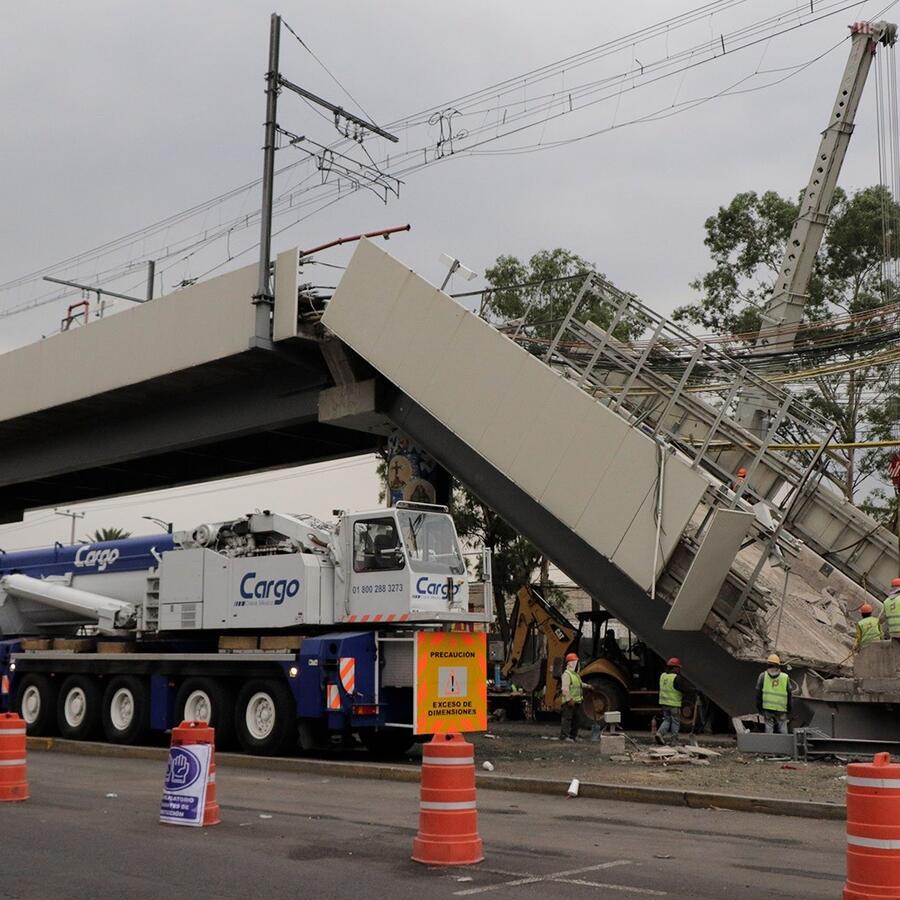 Colapso línea 12 del metro de Ciudad de México