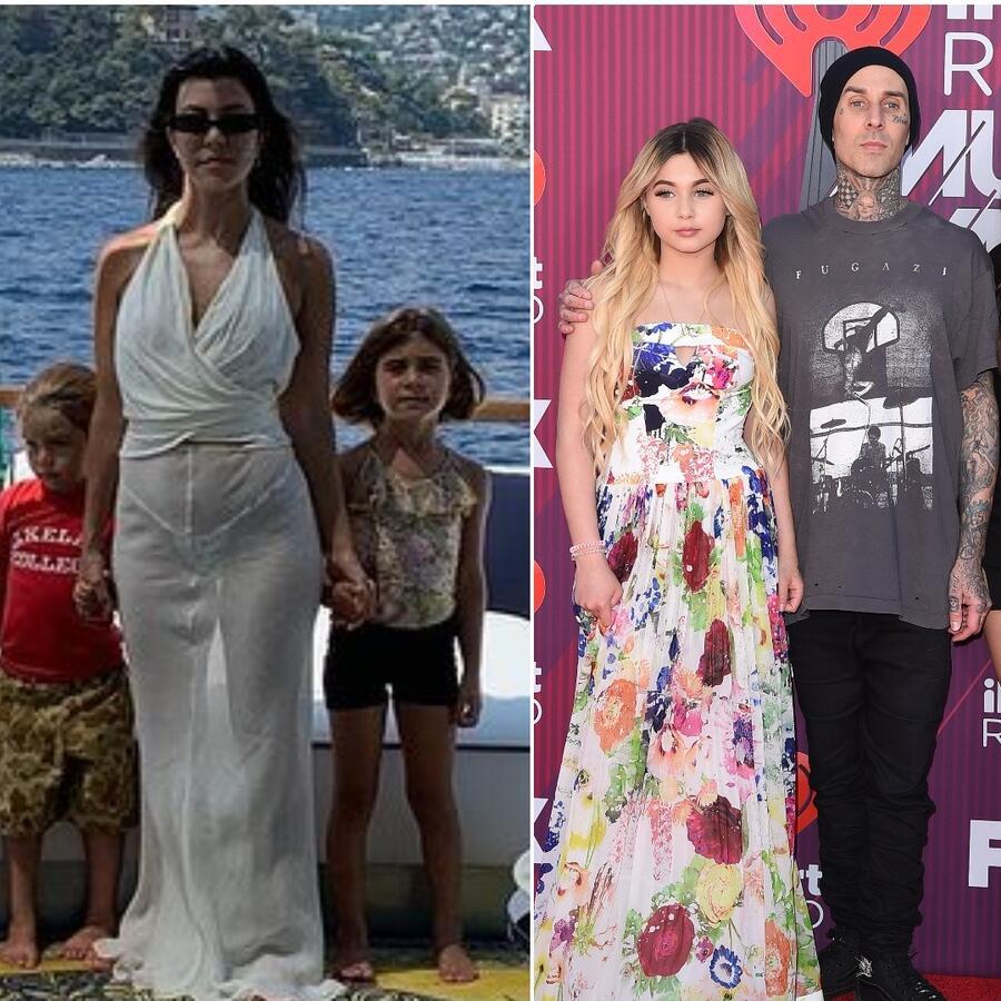 Kourtney Kardashian, Travis Barker y sus hijos