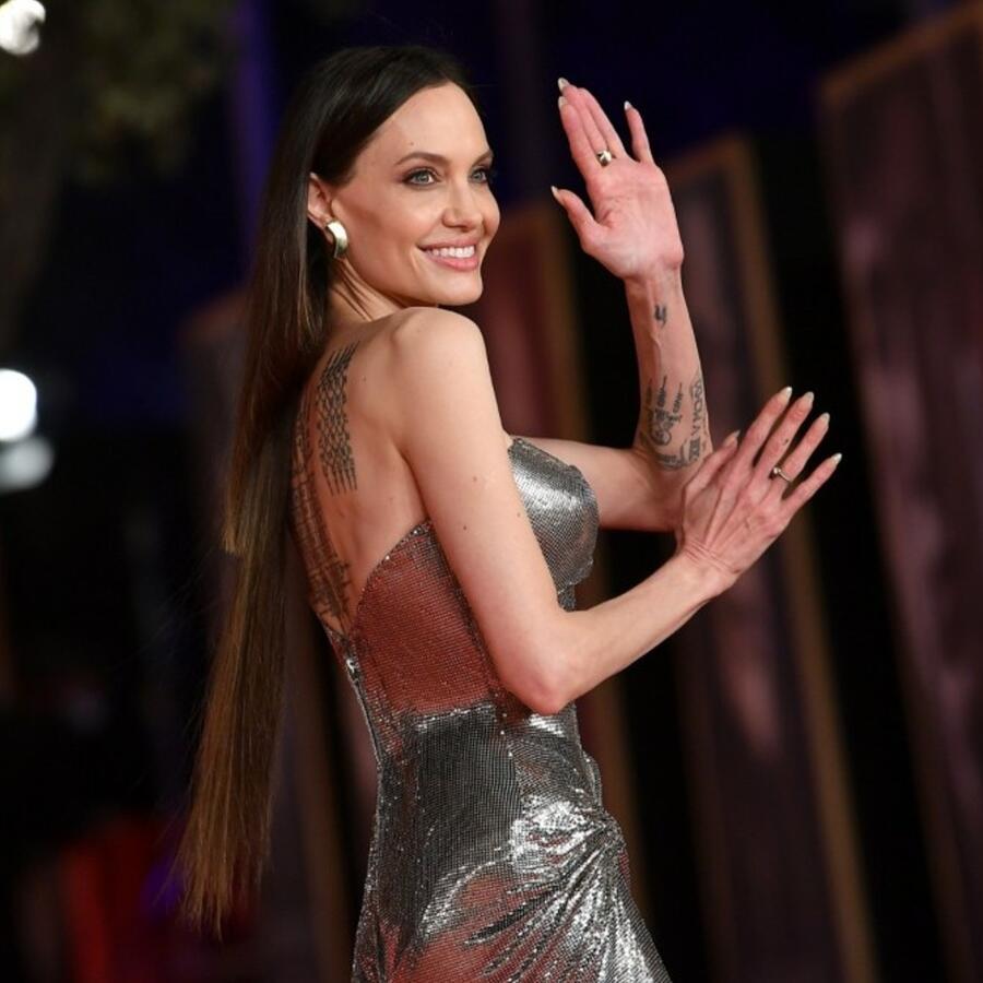 Angelina Jolie en la premiere de 'Eternals' en Roma, 2021