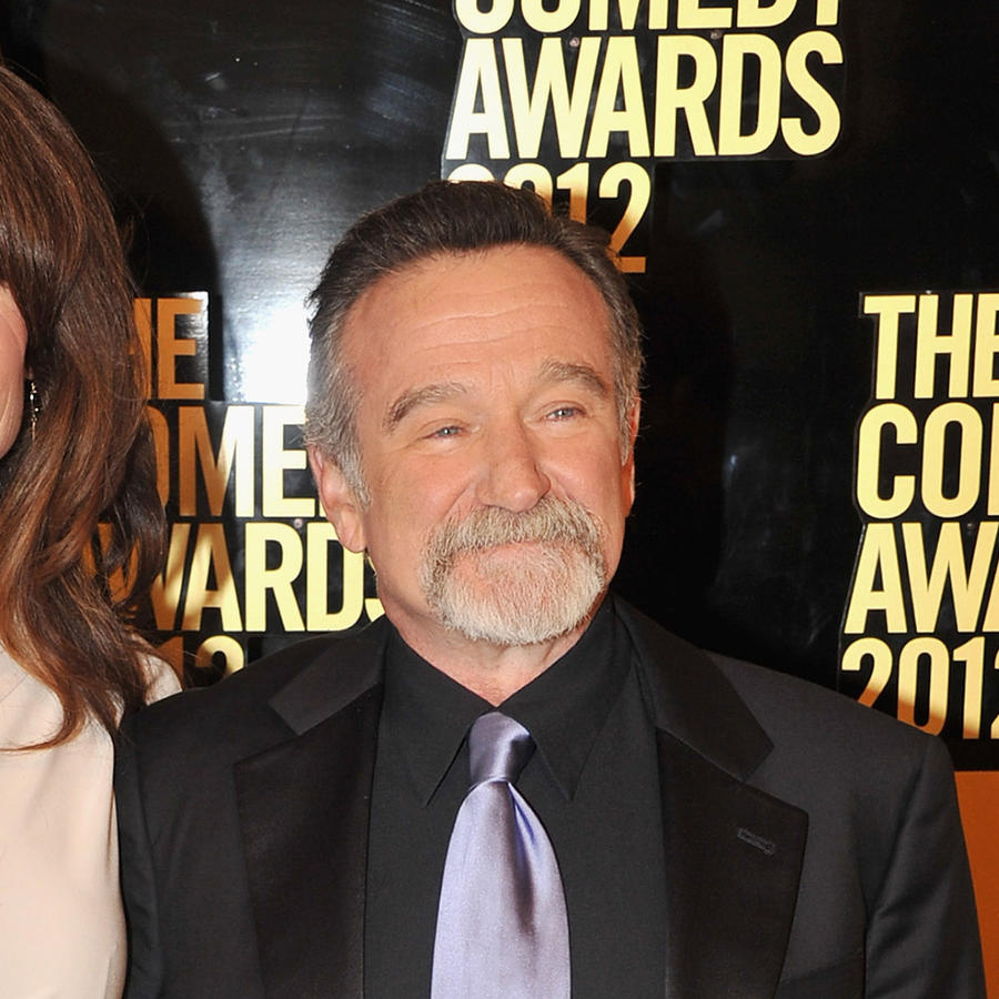 Susan Schneider y Robin Williams.