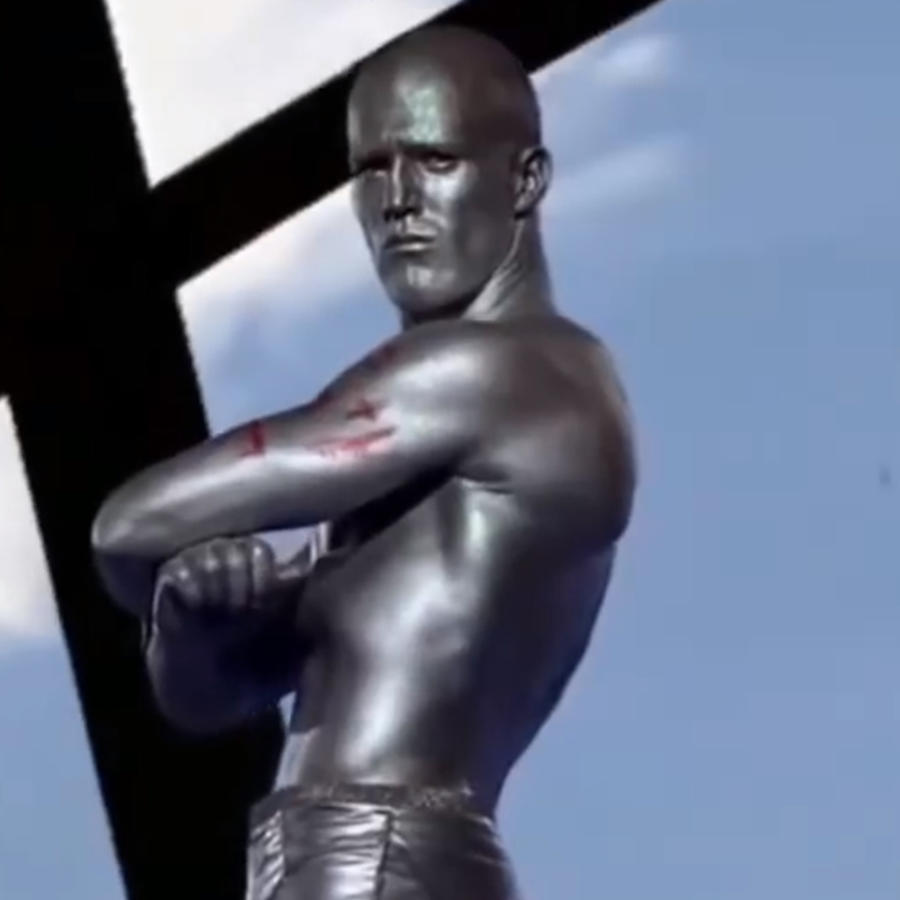 Jason Statham en un video musical.