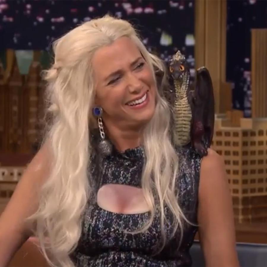 Kristen Wiig se vistió de Khaleesi