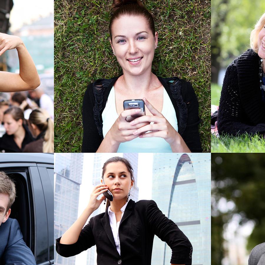 Personas hablando por celular