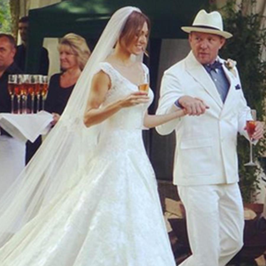 Fotos de la extravagante boda de Guy Ritchie y Jacqui Ainsley.