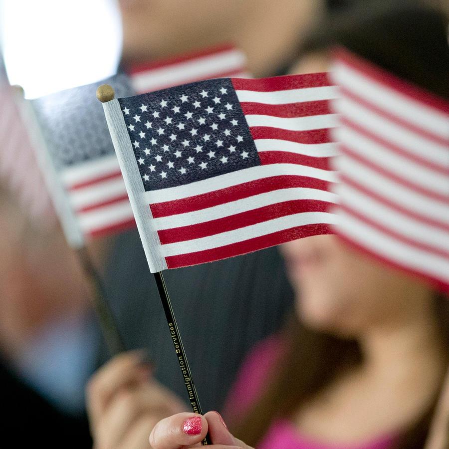 Inmigrantes en ceremonia de naturalización en Miami, Florida el 6 de Julio del 2015